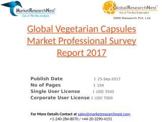 Global Vegetarian Capsules Market Professional Survey Report 2017.pptx