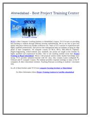 Ahmedabad - Best Project Training Center .doc