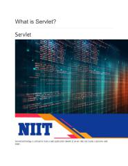 What is Servlet NIIT.pdf
