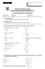 UH1 Matematika Kelas II.doc