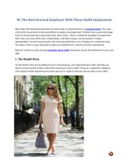 Be The Best Dressed Employee With These Outfit Inspirations.pdf