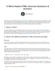 13 Most Helpful HTML Interview Questions & Best Answers.pdf