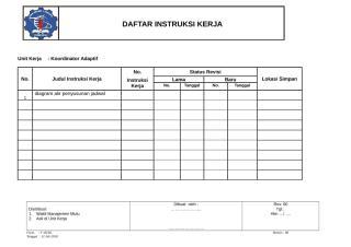 DAFTAR INSTRUKSI KERJA.doc