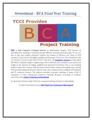 Ahmedabad -  BCA Final Year Training .doc