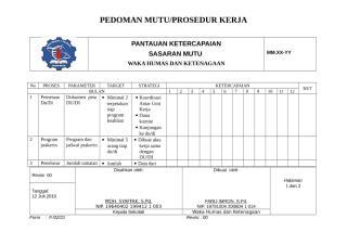 22. FORM PANTAUAN KETERCAPAIAN SASARAN MUTU.doc
