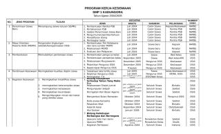 Program Kerja dan Jadwal Kegiatan Kesiswaan.xlsx