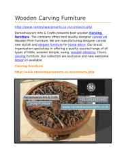 Wooden Carving Furniture.docx