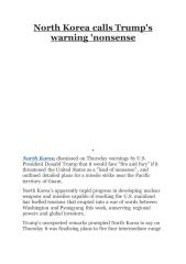 North Korea calls Trump's warning 'nonsense.pdf