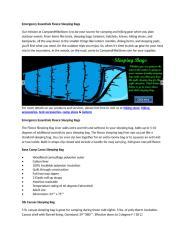 Emergency Essentials Fleece Sleeping Bags.docx