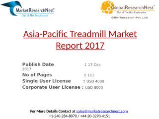 Asia-Pacific Treadmill Market Report 2017.pptx