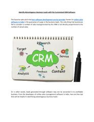 Customized CRM Software  Customer Relationship Management Software.pdf